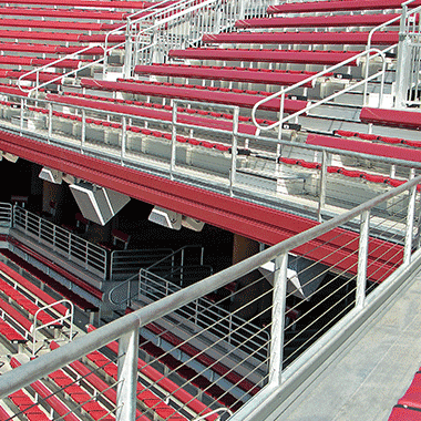 Stadium with Cable Railing